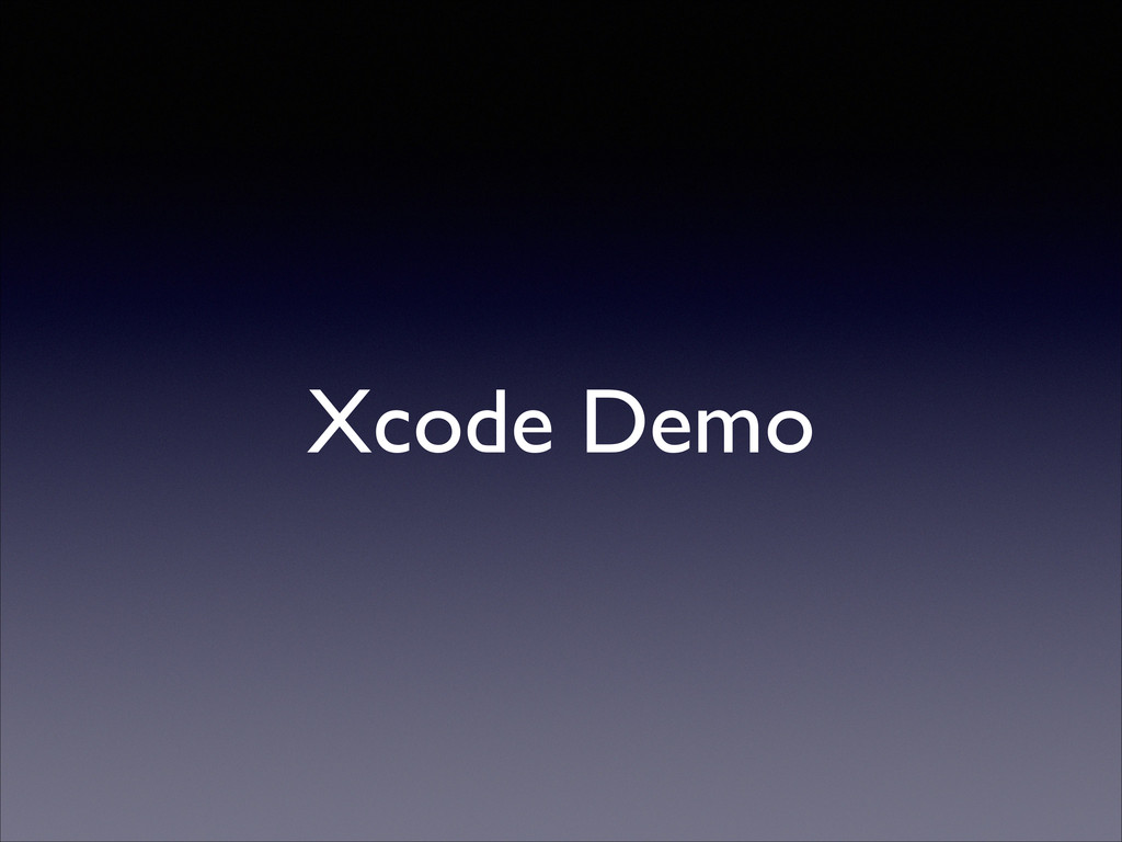 Xcode Demo