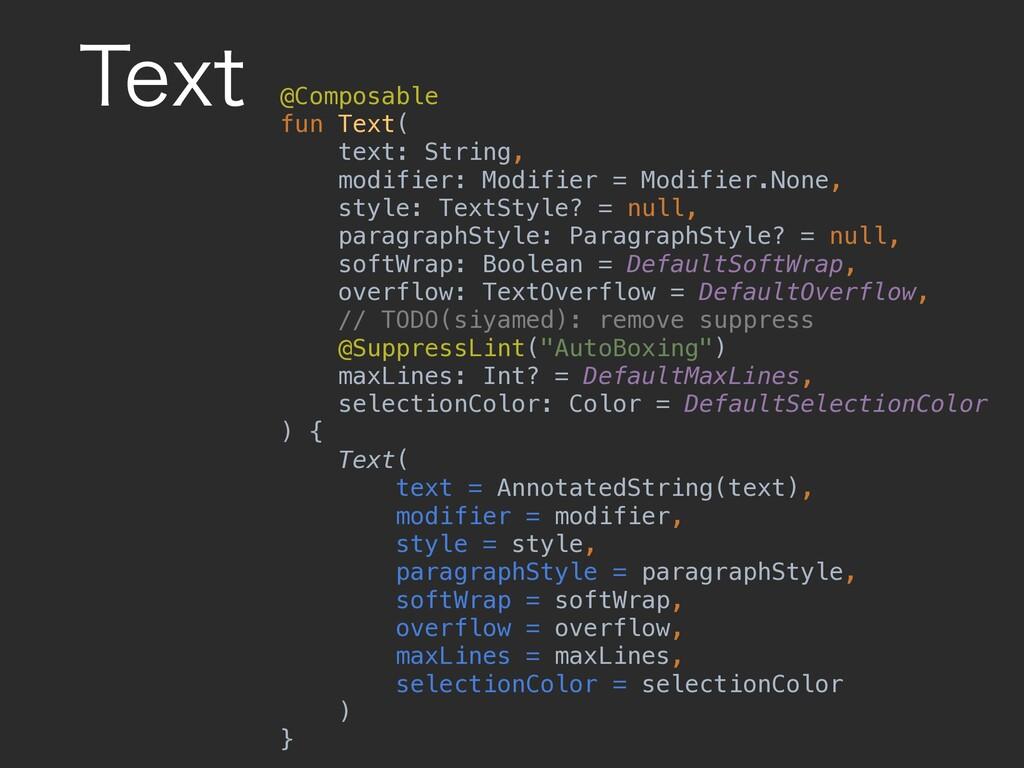 5FYU @Composable fun Text( text: String, modifi...