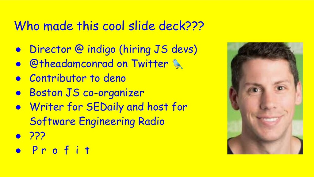 Who made this cool slide deck??? ● Director @ i...