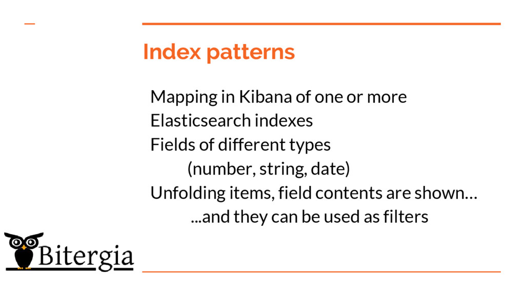 Index patterns Mapping in Kibana of one or more...