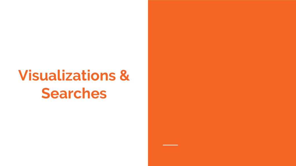 Visualizations & Searches
