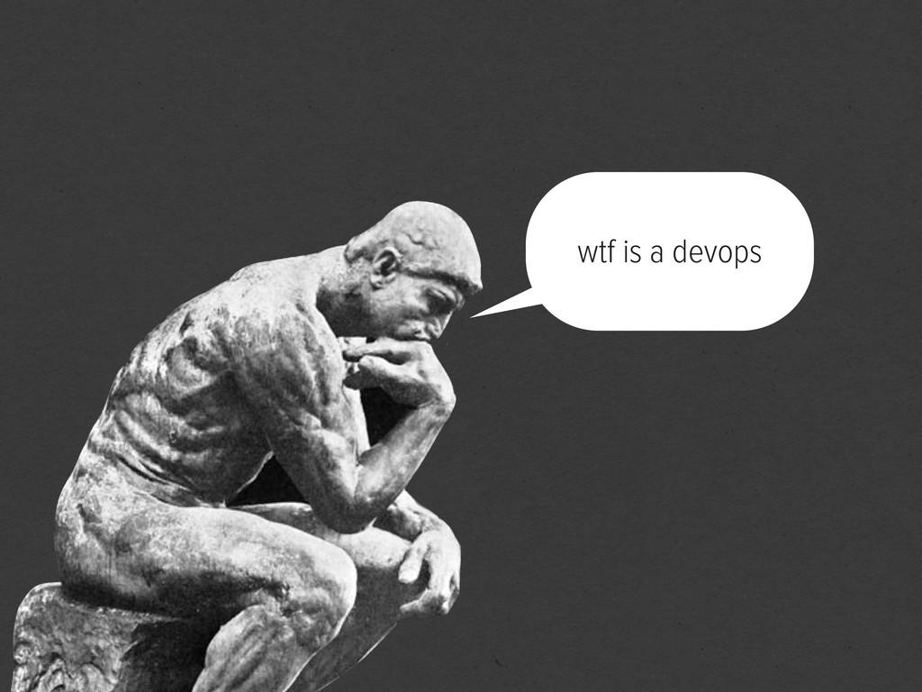 wtf is a devops