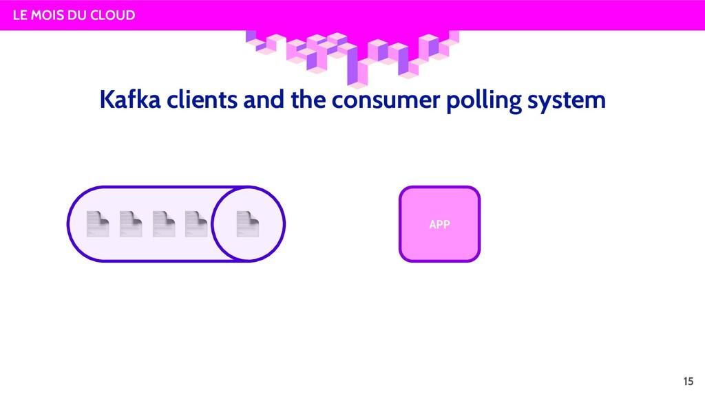LE MOIS DU CLOUD APP 15 Kafka clients and the c...