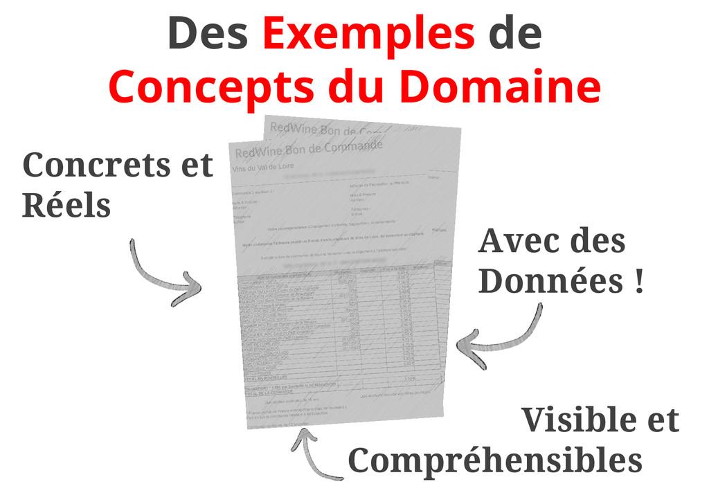 Des Exemples de Concepts du Domaine Concrets et...