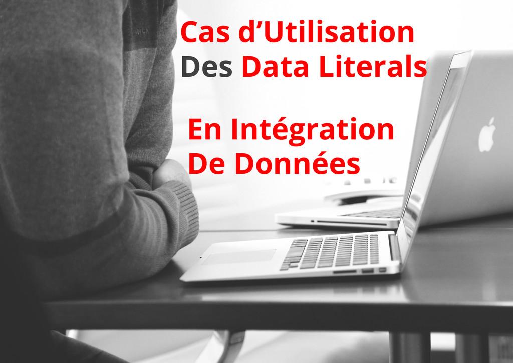 Cas d'Utilisation Des Data Literals En Intégrat...