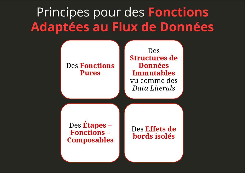 Principes pour des Fonctions Adaptées au Flux d...