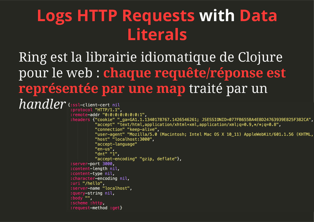 Logs HTTP Requests with Data Literals Ring est ...