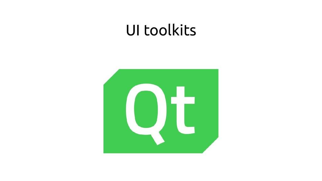 UI toolkits