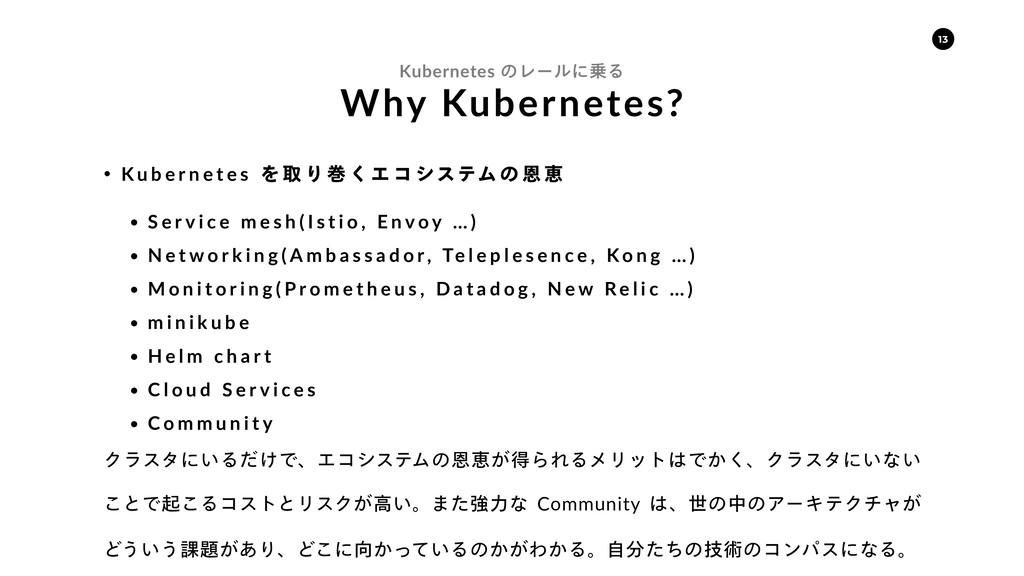 Why Kubernetes? Kubernetes ͷϨʔϧʹΔ w K u b e r ...