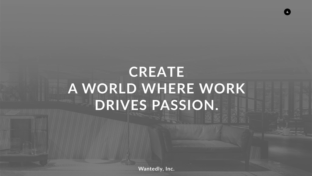 CREATE A WORLD WHERE WORK DRIVES PASSION. Wante...