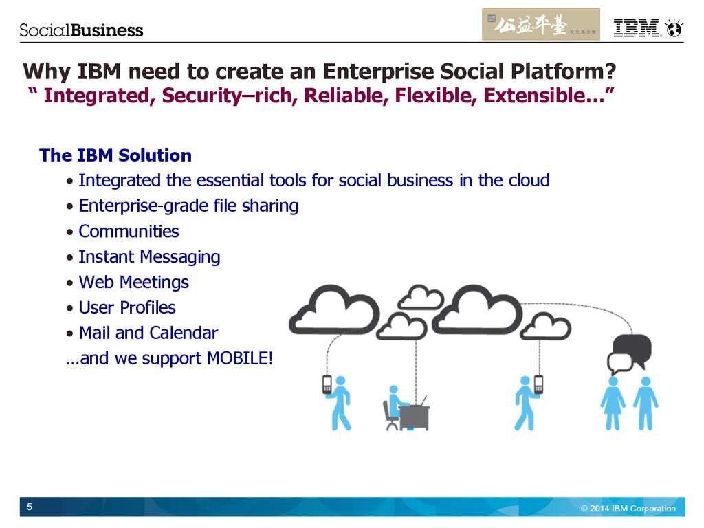 © 2014 IBM Corporation 5 Why IBM need to create...