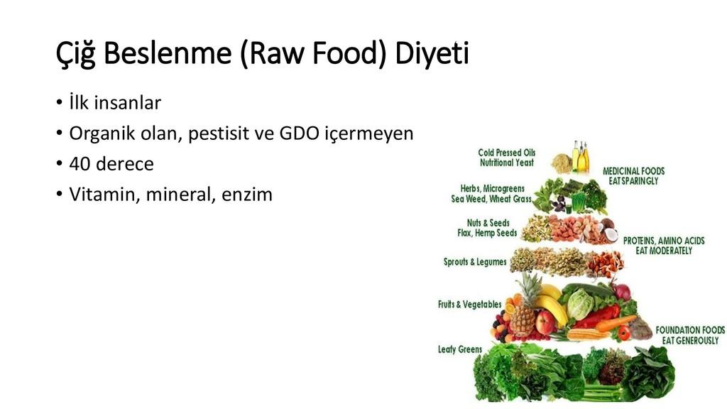 Çiğ Beslenme (Raw Food) Diyeti • İlk insanlar •...