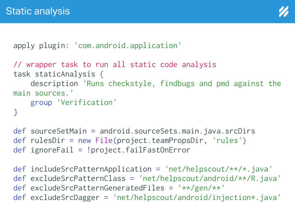 Static analysis apply plugin: 'com.android.appl...