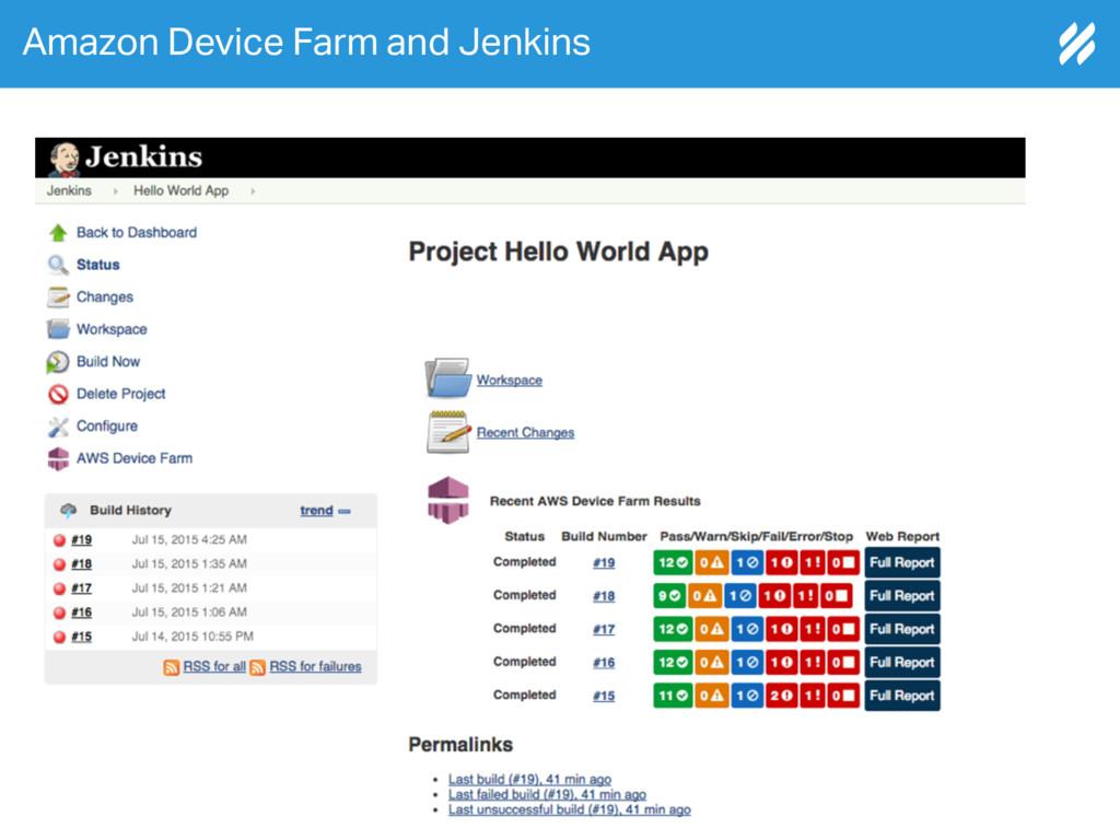 Amazon Device Farm and Jenkins