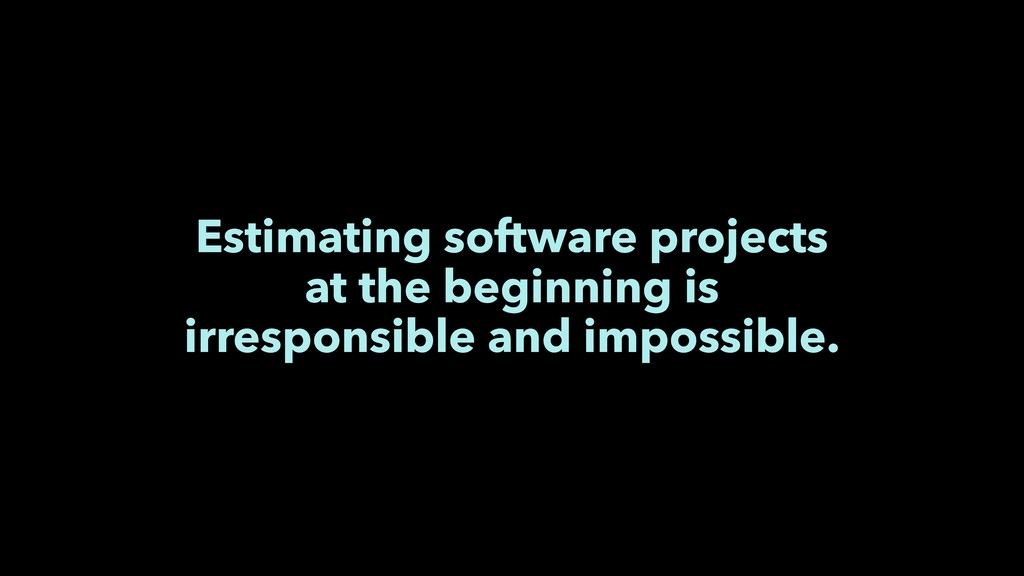 Estimating software projects at the beginning i...