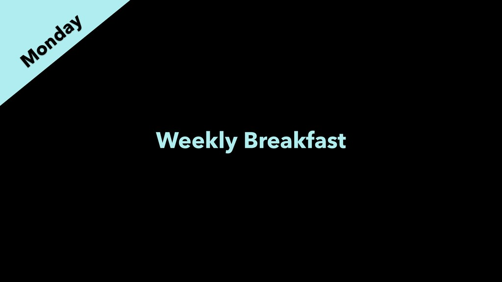 Weekly Breakfast M onday