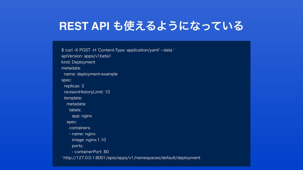 REST API ͑ΔΑ͏ʹͳ͍ͬͯΔ DVSM91045)$POUFO...