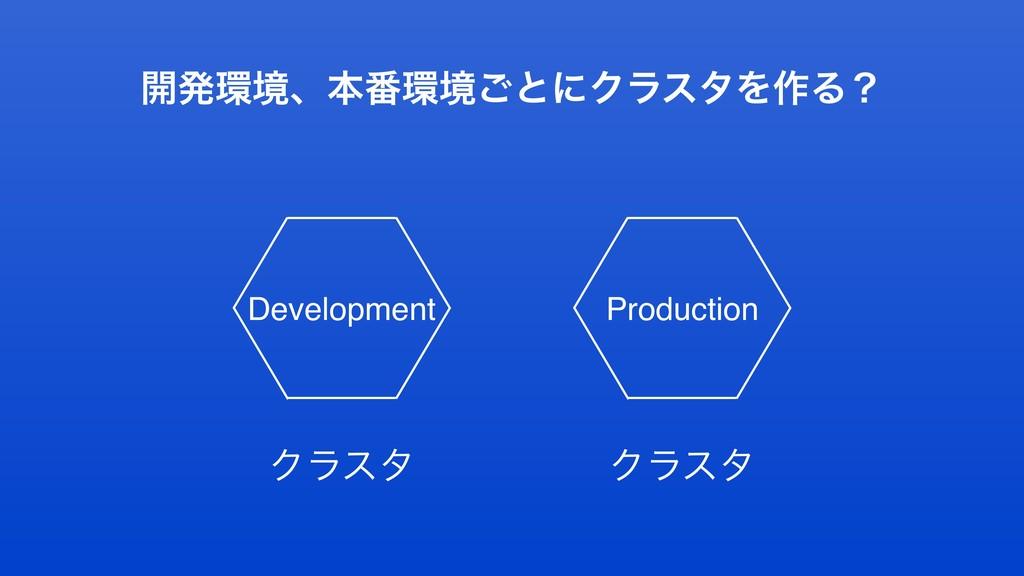 ։ൃڥɺຊ൪ڥ͝ͱʹΫϥελΛ࡞Δʁ Development Ϋϥελ Ϋϥελ Prod...