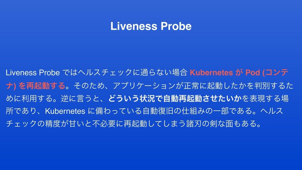 Liveness Probe Liveness Probe ͰϔϧενΣοΫʹ௨Βͳ͍߹ ...