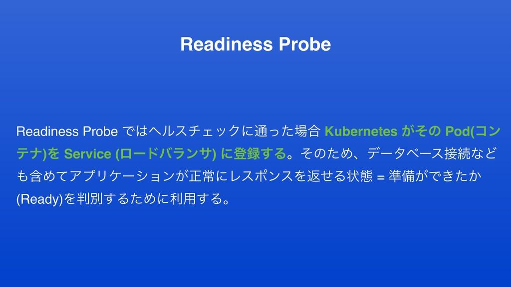 Readiness Probe Readiness Probe ͰϔϧενΣοΫʹ௨ͬͨ߹...