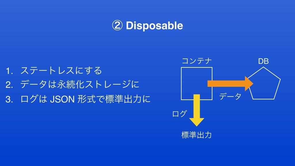 1. εςʔτϨεʹ͢Δ 2. σʔλӬଓԽετϨʔδʹ 3. ϩά JSON ܗࣜͰඪ४...