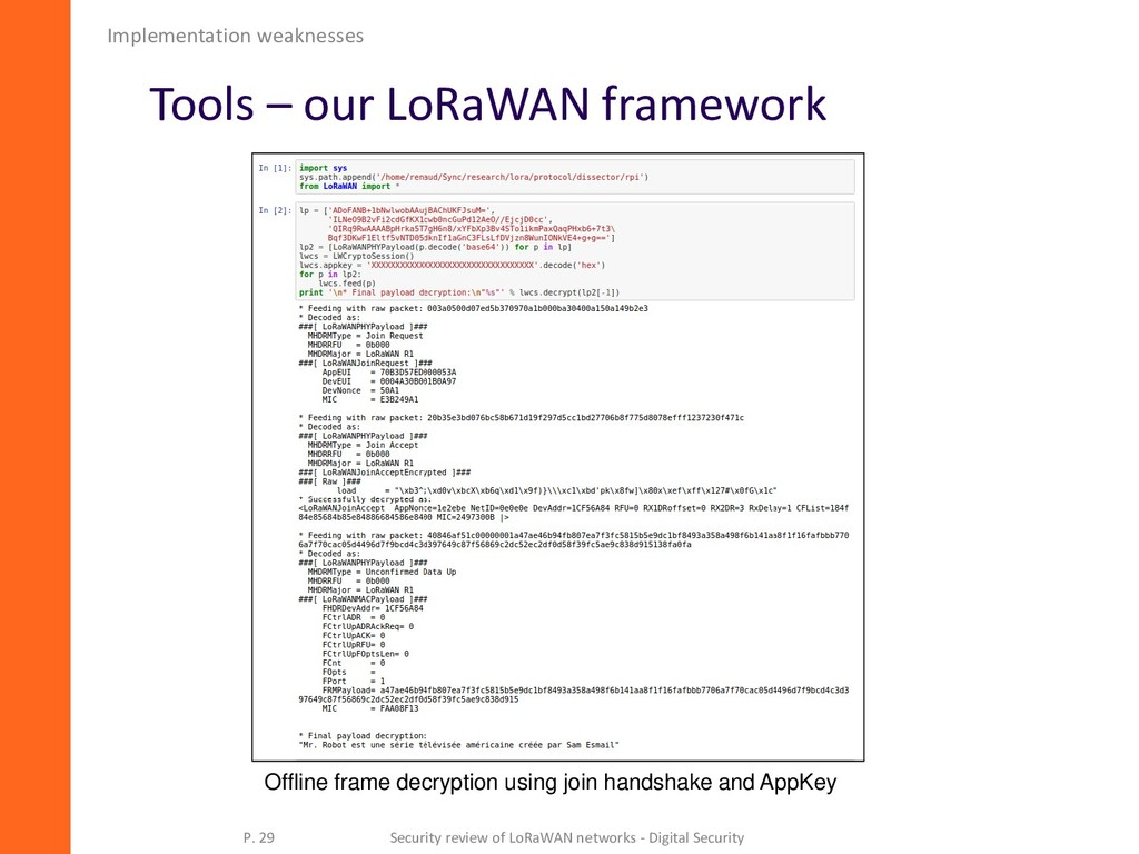 Tools – our LoRaWAN framework Implementation we...