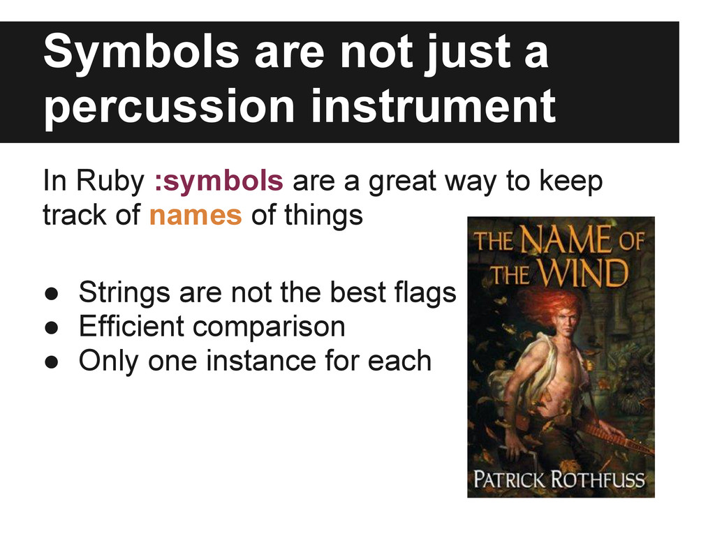 Symbols are not just a percussion instrument In...