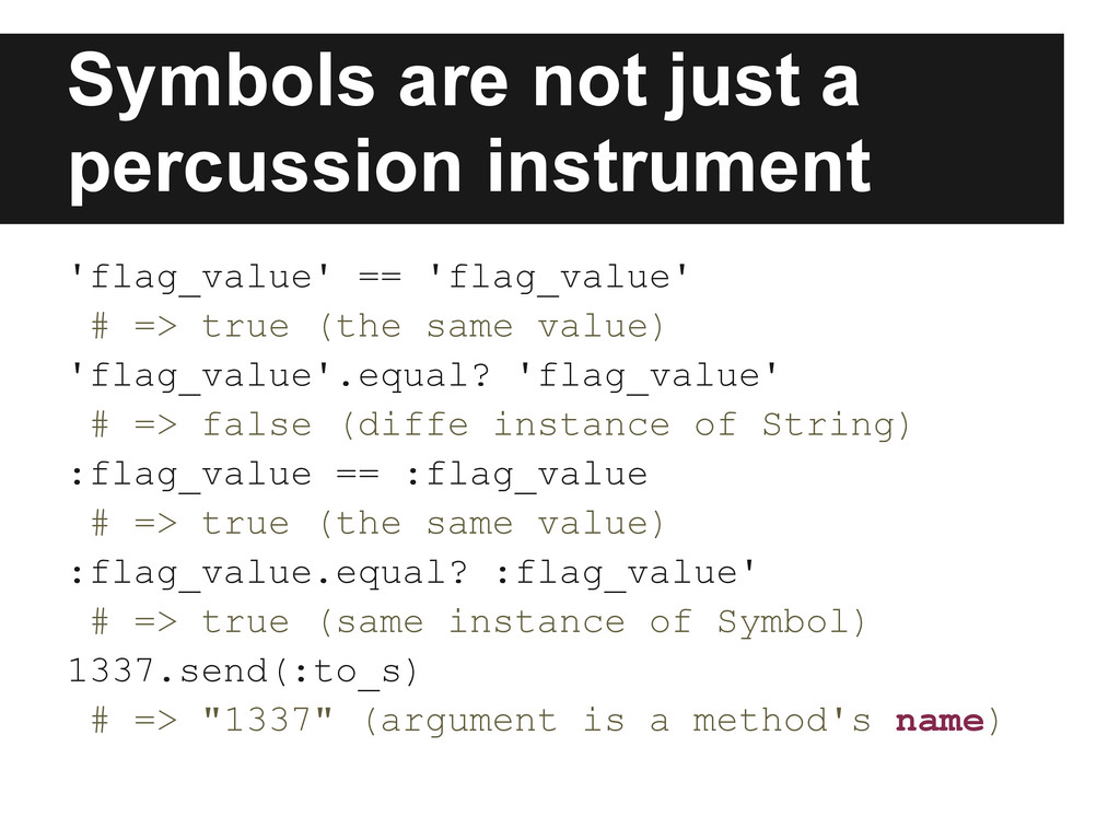 Symbols are not just a percussion instrument 'f...