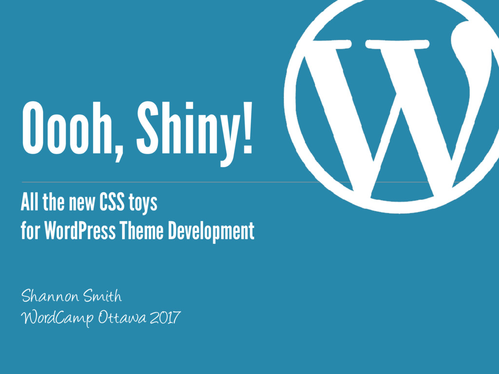 Oooh, Shiny! All the new CSS toys for WordPress...