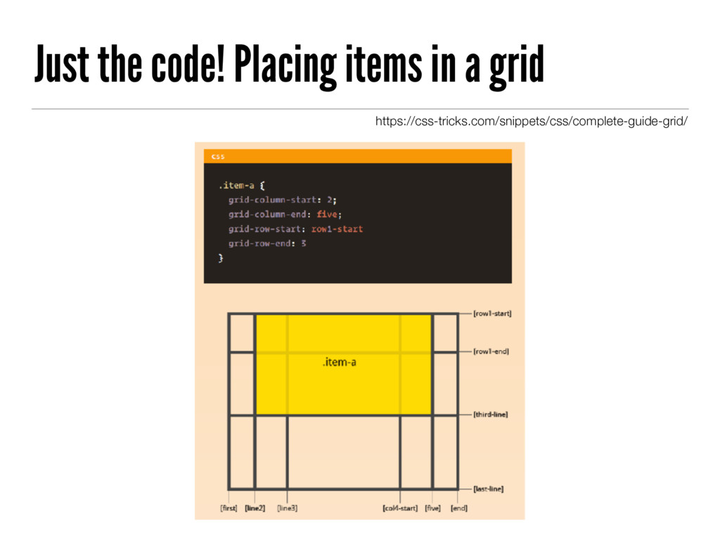 Just the code! Placing items in a grid https://...