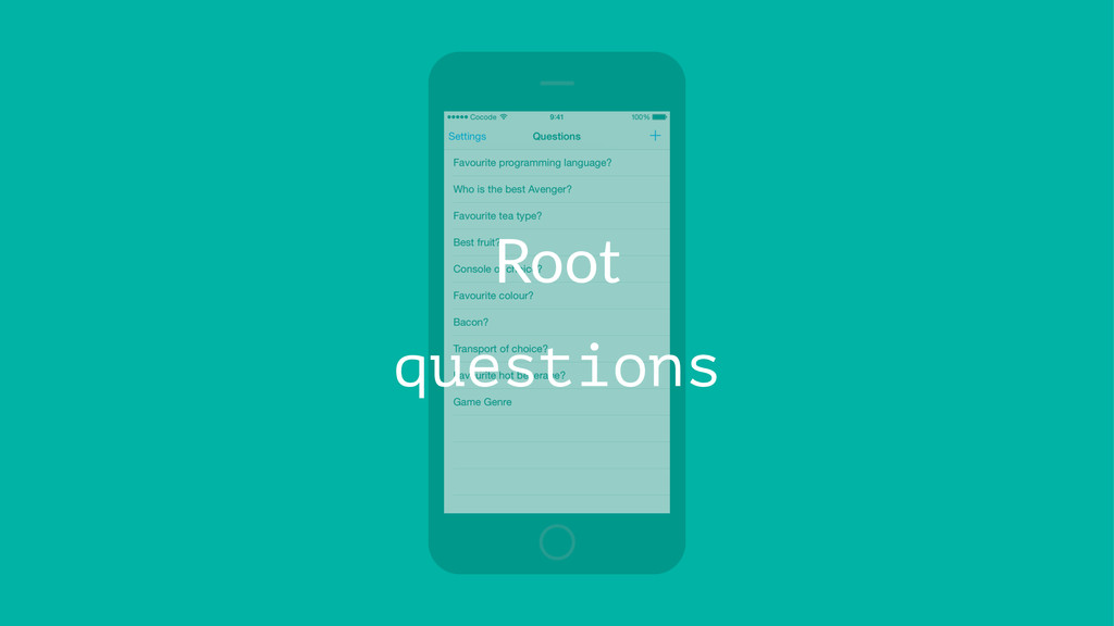 Root questions