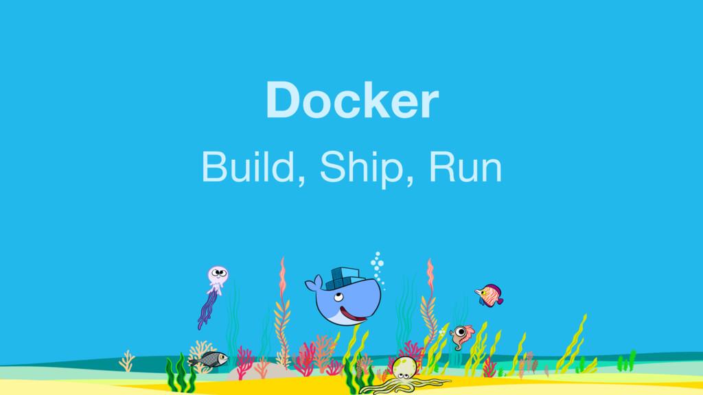 Docker Build, Ship, Run