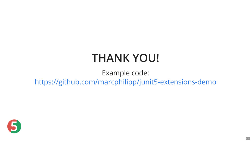 5 THANK YOU! Example code: https://github.com/m...