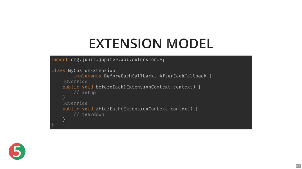 5 EXTENSION MODEL import org.junit.jupiter.api....