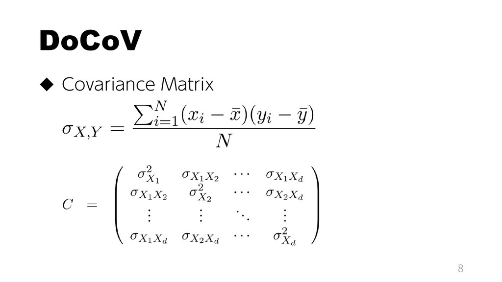 DoCoV  Covariance Matrix 8