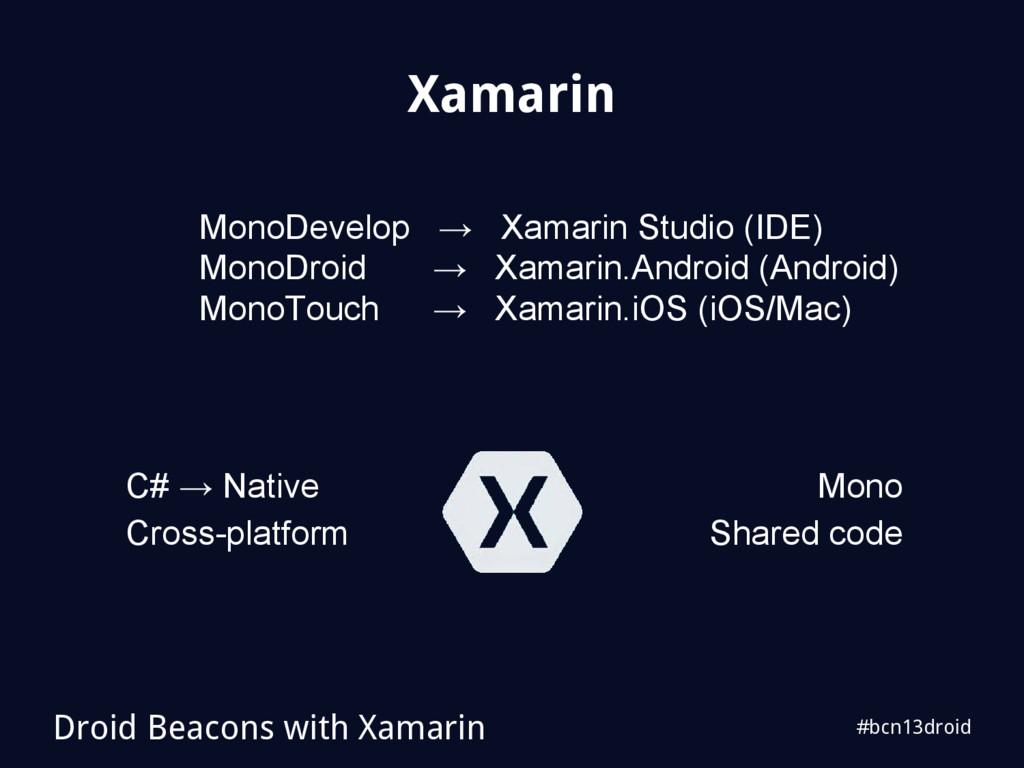 #bcn13droid Xamarin Droid Beacons with Xamarin ...