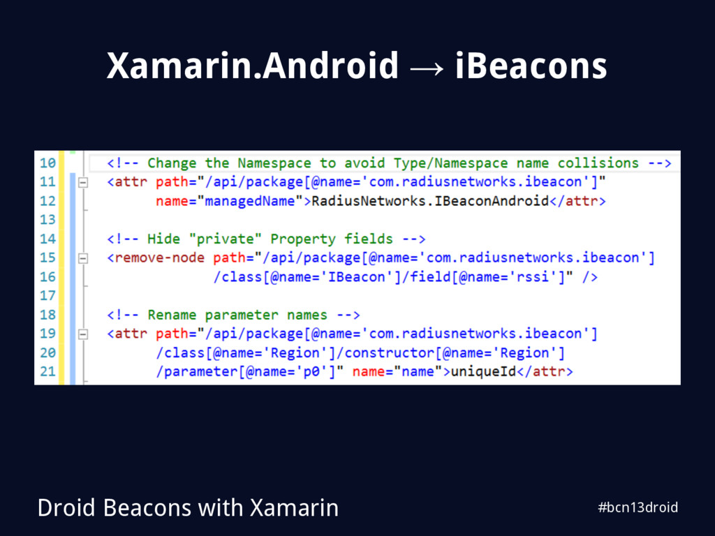 #bcn13droid Xamarin.Android → iBeacons Droid Be...