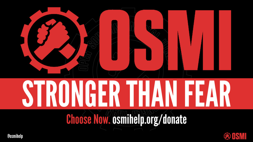 @osmihelp Choose Now. osmihelp.org/donate STRON...