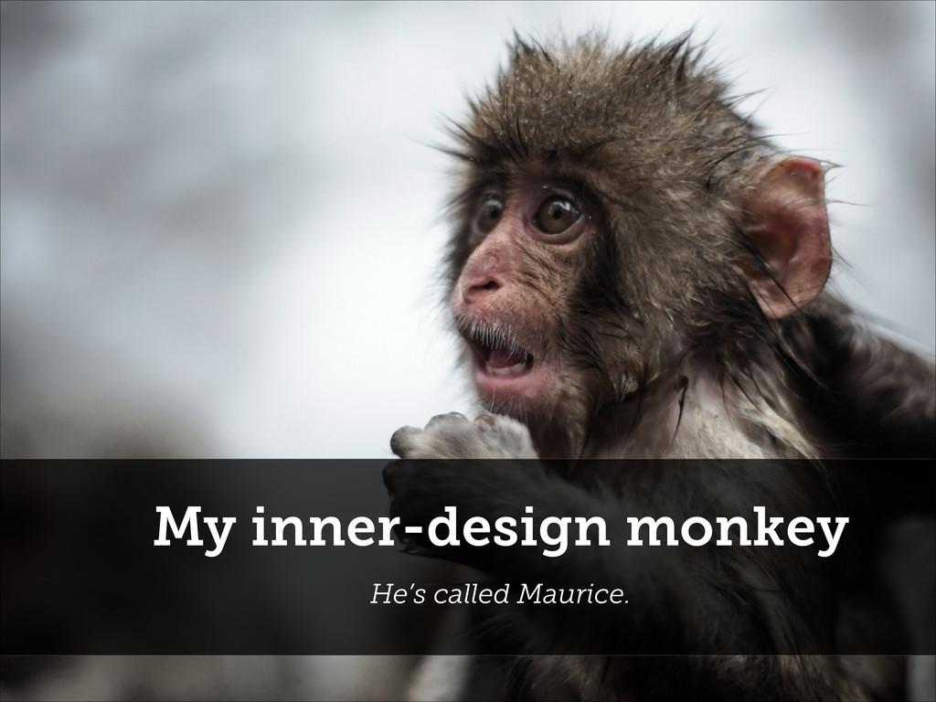 My inner-design monkey He's called Maurice.