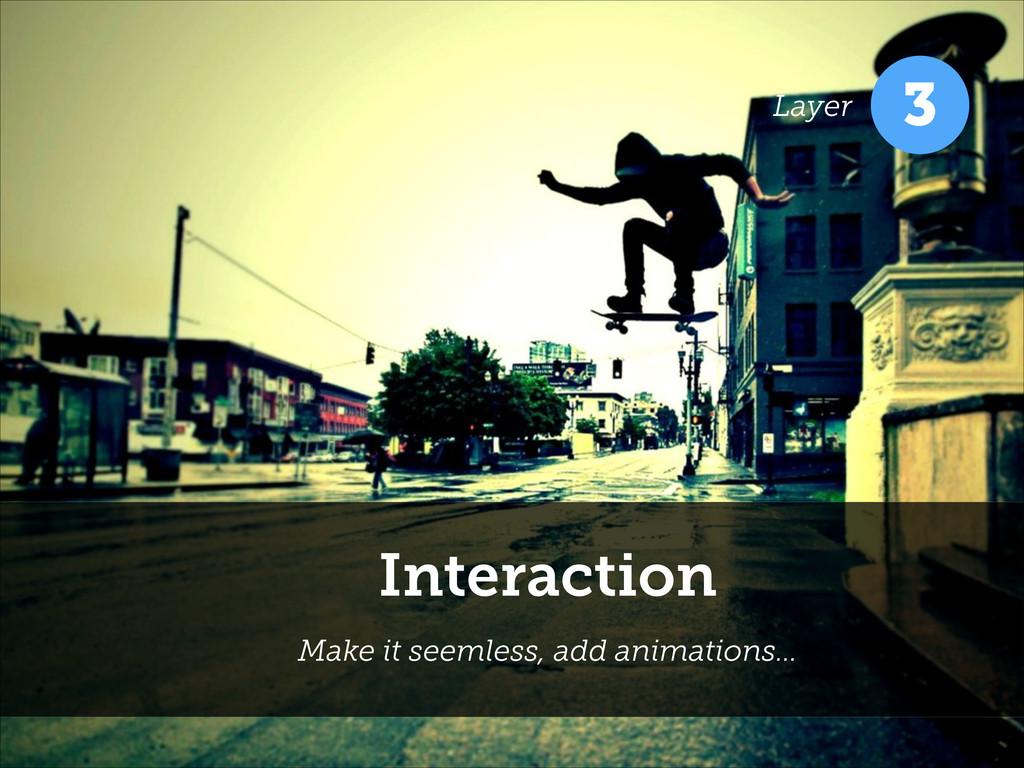 Interaction Make it seemless, add animations… 3...