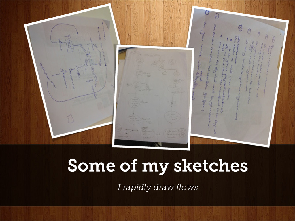 Some of my sketches I rapidly draw flows
