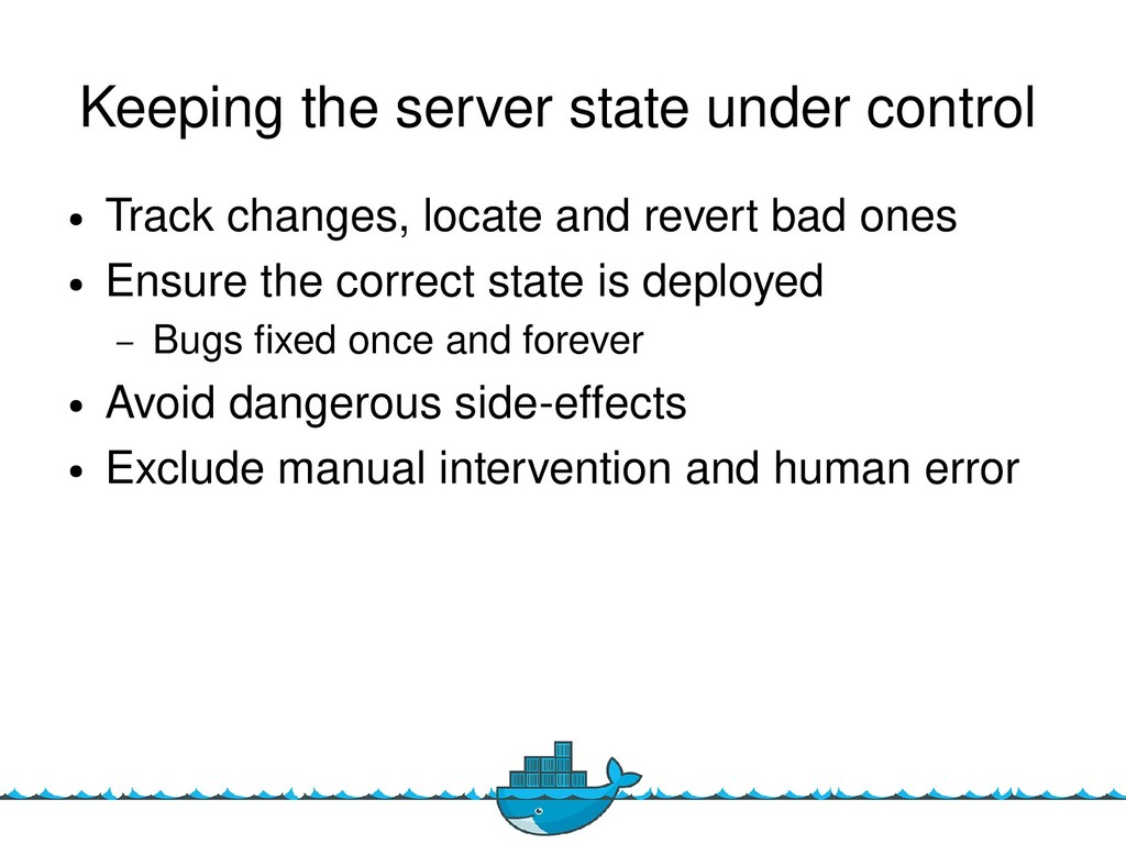 15 Keeping the server state under control ● Tra...