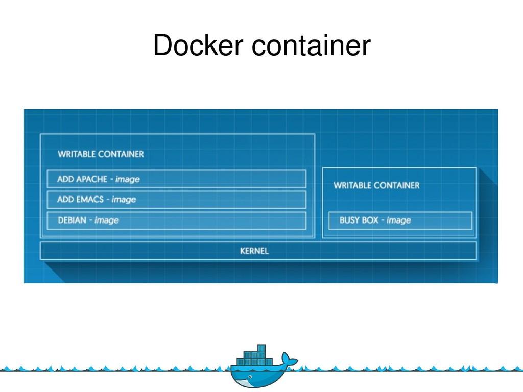 4 Docker container