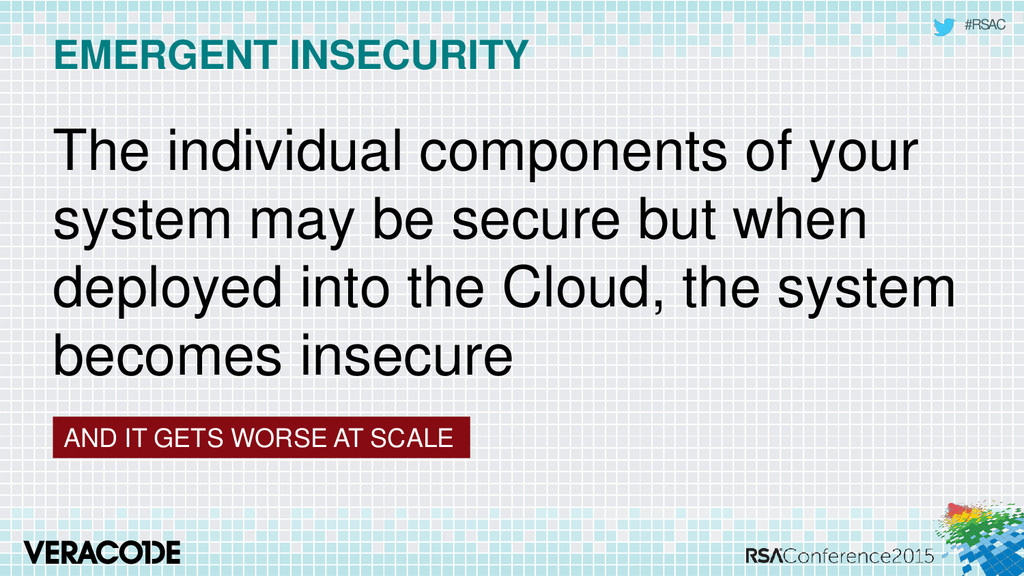 #RSAC EMERGENT INSECURITY AND IT GETS WORSE AT ...