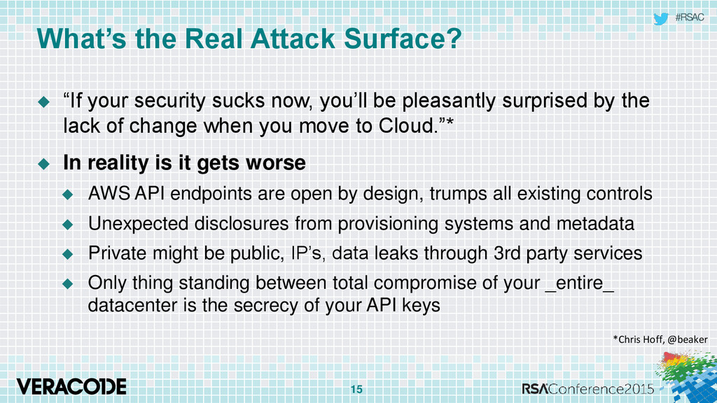 "#RSAC What's the Real Attack Surface?  ""If you..."
