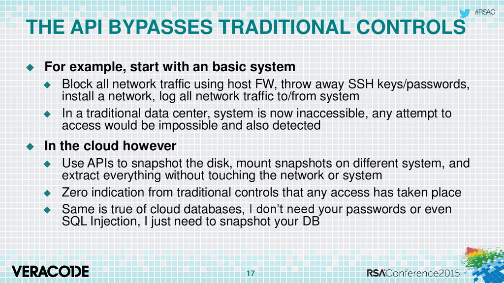 #RSAC THE API BYPASSES TRADITIONAL CONTROLS  F...