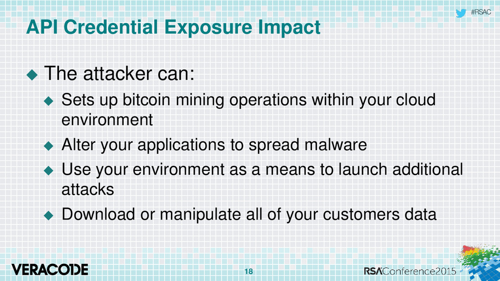 #RSAC API Credential Exposure Impact  The atta...
