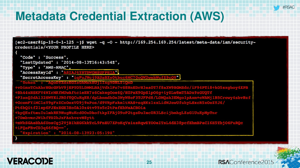#RSAC Metadata Credential Extraction (AWS) 25