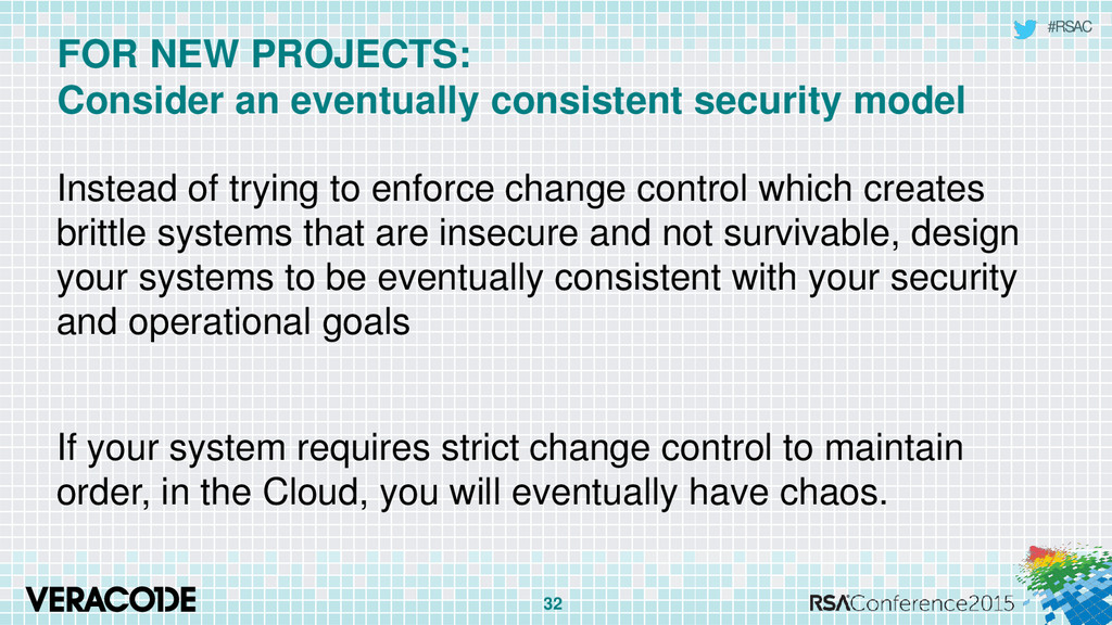 #RSAC FOR NEW PROJECTS: Consider an eventually ...