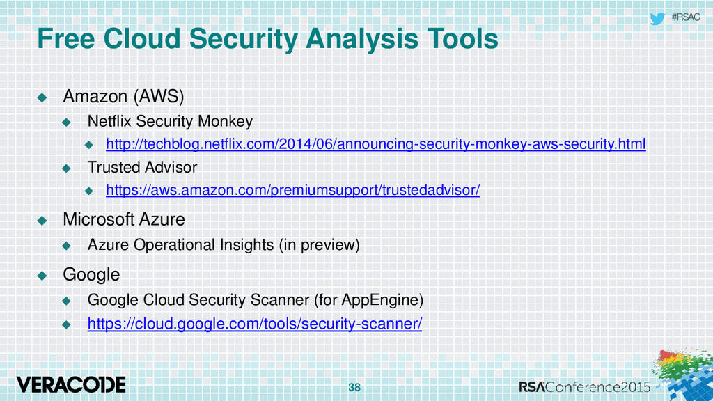 #RSAC Free Cloud Security Analysis Tools  Amaz...